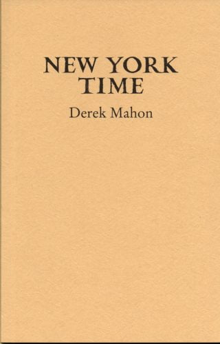 New York Time - Derek Mahon