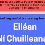 Eiléan Ní Chuilleanáin to read at University of Limerick: 24 October
