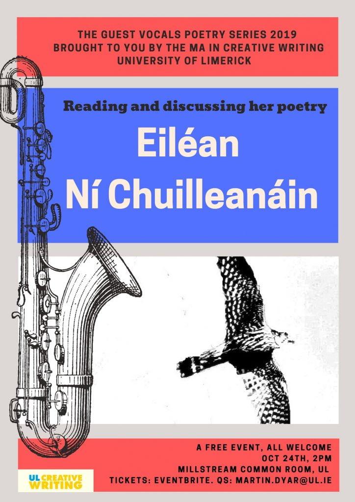 October 24 Eilean Ni C UL reading poster