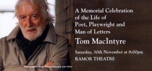 Memorial Celebration for Tom Mac Intyre