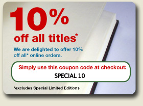 10% off all* online orders (*excludes Limited Editions)