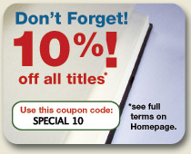10% off all* online purchases (*excludes Package Deals, Limited Editions and ebooks)
