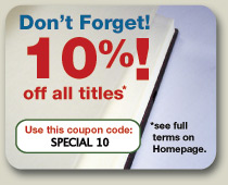 10% off all* online purchases (*excludes Limited Editions and ebooks).