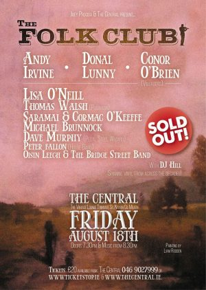 The Folk Club, The Central, Navan: 18 August