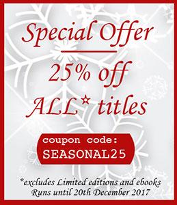 25% off all* online purchases (*excludes Package Deals, Limited Editions and ebooks)