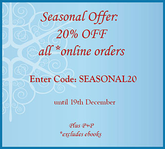 20% off all* online purchases (Plus P&P, *excludes ebooks)